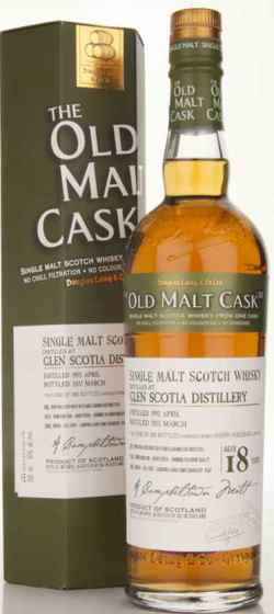 The Dramble's tasting notes for Douglas Laing Old Malt Cask Glen Scotia 1992 18 year old