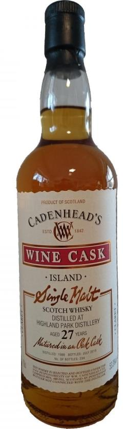 The Dramble's tasting notes for Highland Park 1988 27 year old Cadenhead's Wine Cask