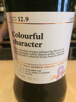 The Dramble's tasting notes for SMWS 12.9 Colourful character