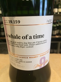 The Dramble's tasting notes for SMWS 39.159 A whale of a time