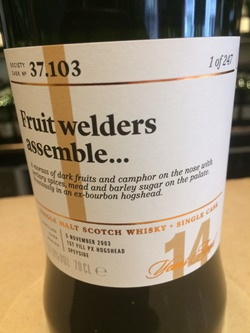 The Dramble's tasting notes for SMWS 37.103 Fruit welders assemble
