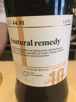The Dramble's tasting notes for SMWS 44.91 A natural remedy