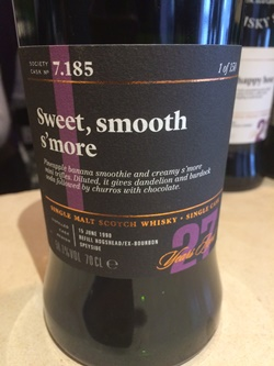 The Dramble's tasting notes for SMWS 7.185 Sweet, smooth s'more