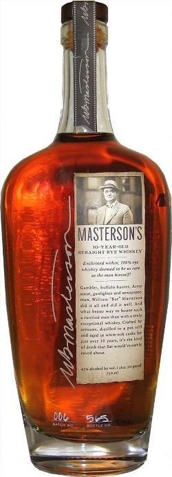 The Dramble's tasting notes for Masterson's 10 year old Straight Rye
