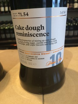 The Dramble's review of SMWS 71.54 Cake dough reminiscence