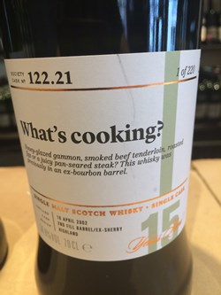 The Dramble's review of SMWS 122.21 What's cooking?
