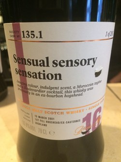The Dramble's review of SMWS 135.1 Sensual sensory sensation