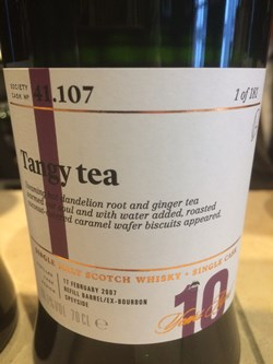 The Dramble's review of SMWS 41.107 Tangy tea