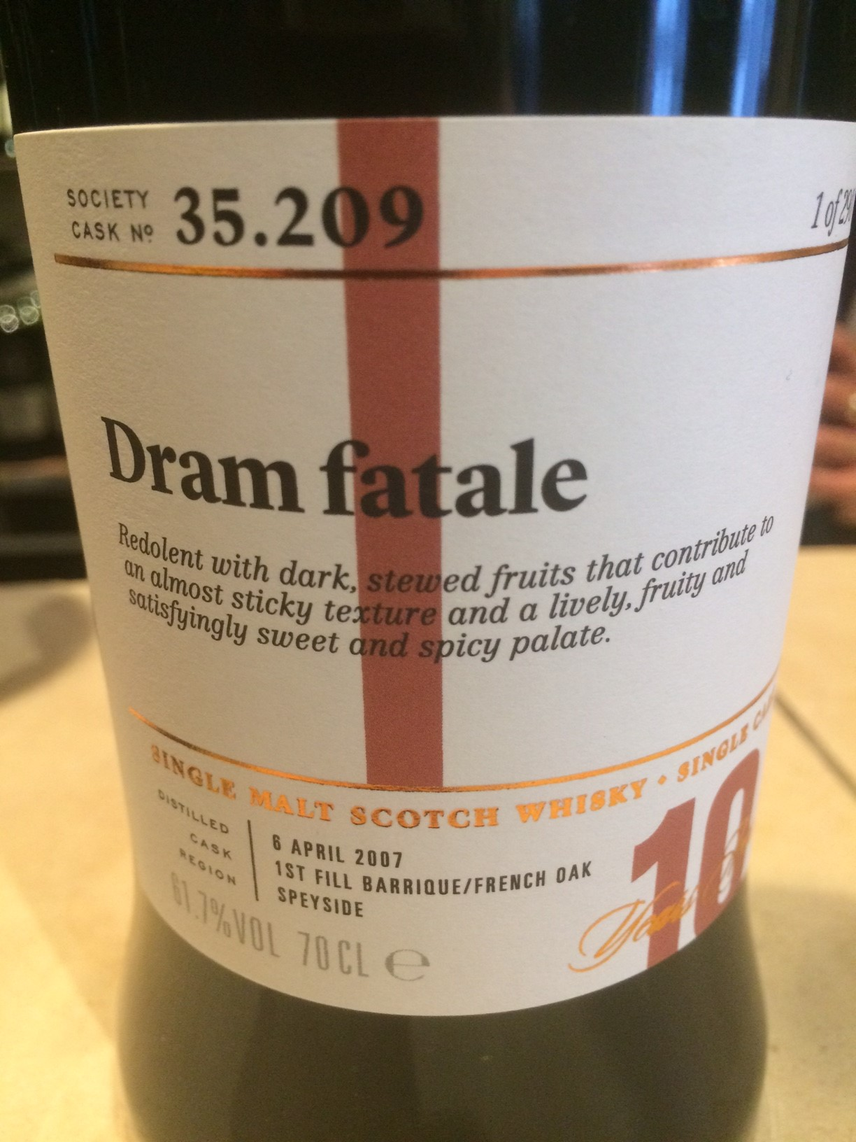 The Dramble's review of SMWS 35.209 Dram Fatale