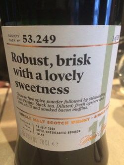 The Dramble's review of SMWS 53.249 Robust, brisk with a lovely sweetness