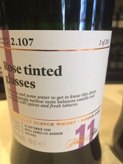 The Dramble's review of SMWS 2.107 Rose tinted glasses