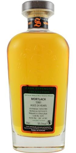 The Dramble reviews Mortlach 1991 24 year old Signatory Cask Strength Collection