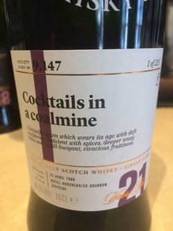 The Dramble's review of SMWS 9.147 Cocktails in a coalmine