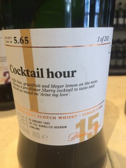 The Dramble's review of SMWS 5.65 Cocktail hour