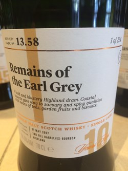 The Dramble's review of SMWS 13.58 Remains of the Earl Grey