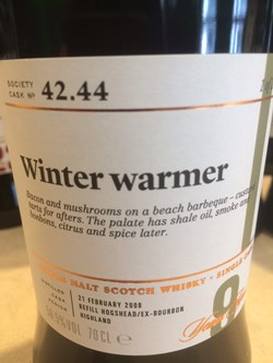 The Dramble's review of SMWS 42.44 Winter warmer