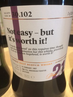 The Dramble reviews SMWS 30.102 Not easy - but worth it!