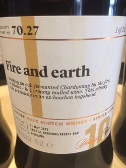 The Dramble reviews SMWS 70.27 Fire and earth