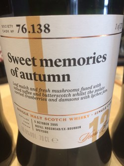 The Dramble reviews SMWS 76.138 Sweet memories of autumn