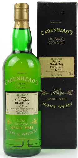 The Dramble reviews Aberfeldy 1978 17 year old Cadenhead's (Authentic Collection)