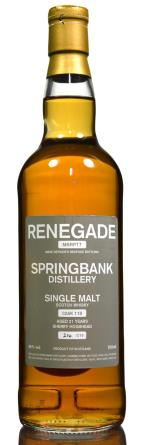 The Dramble's tasting notes for Springbank 21 year old Renegade